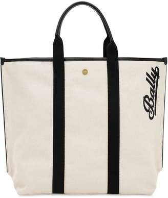 Bally LOGO EMBROIDERED CANVAS TOTE
