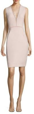 Elie Tahari Saylah Lace-Trim Sheath Dress $398 thestylecure.com