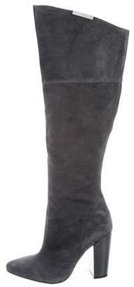 Calvin Klein Collection Suede Knee-High Boots