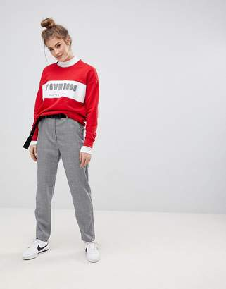 Pull&Bear Mini Check Peg Leg Pant
