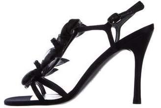 Stuart Weitzman Satin Ankle Strap Sandals