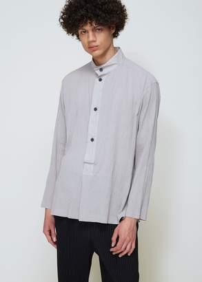 Issey Miyake Washed Voile Bib Shirt
