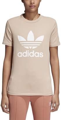 adidas Women's Trefoil T-Shirt, Mist Sun/White