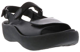 Wolky Leather Sandals with Removable Footbed -Jewel