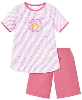 Schiesser Girl's Md Anzug Kurz Pyjama Sets, (White 100), 18-24 Months