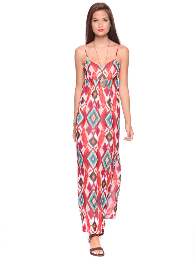 Forever 21 Ikat Maxi Dress