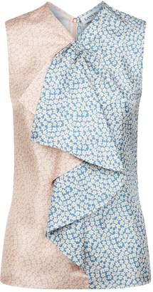 Lanvin Floral Sleeveless Blouse