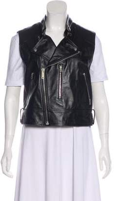 Golden Goose Leather Biker Vest