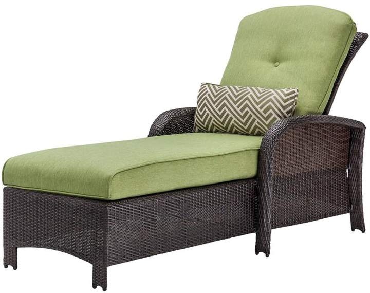 Cambridge Silversmiths Cambridge Corolla Luxury Chaise Lounge Chair - Green