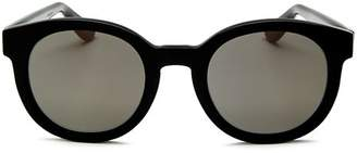 Saint Laurent Women's Classic Round Sunglasses, 50mm