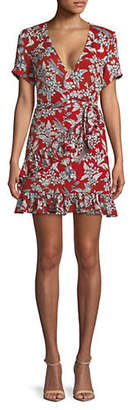 Missguided Floral-Print Fit Flare Dress