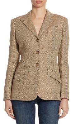 Polo Ralph Lauren Herringbone Textured Blazer $598 thestylecure.com