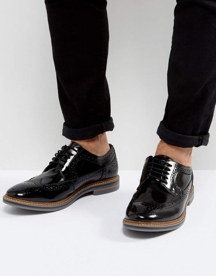 Base London Turner Leather Brogue Shoes