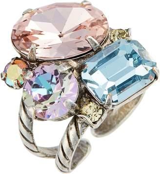 Sorrelli Cluster Crystal Cocktail Ring