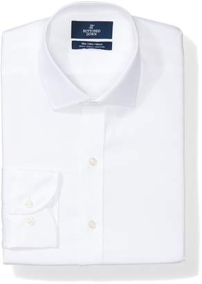 Buttoned Down Men's Slim Fit Stretch Non-Iron Dress Shirt