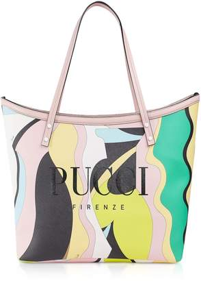 Emilio Pucci Two Tone Canvas Large Tote Bag