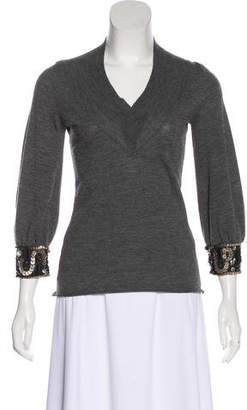Valentino Wool Embellished Top