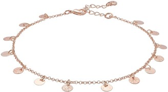 Lauren Conrad Rose Gold Disc Charm Anklet