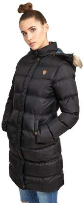 Brave Soul Hoplong Womens Hood Padded Jacket -Small