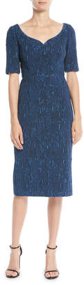 Jason Wu Sweetheart-Neck Cloque Jacquard Cocktail Dress