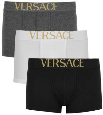 Versace Apollo Stretch Cotton Boxer Briefs