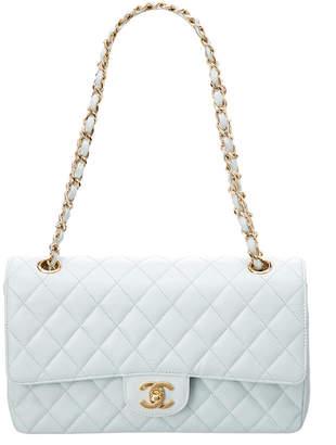 Chanel Blue Caviar Leather 2.55 Double Flap Bag