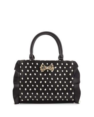 Betsey Johnson Flouncing Around Shoulder Bag, Black/White $75 thestylecure.com
