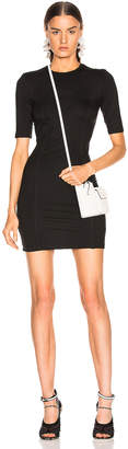 Enza Costa Seamed Mini Dress in Black   FWRD