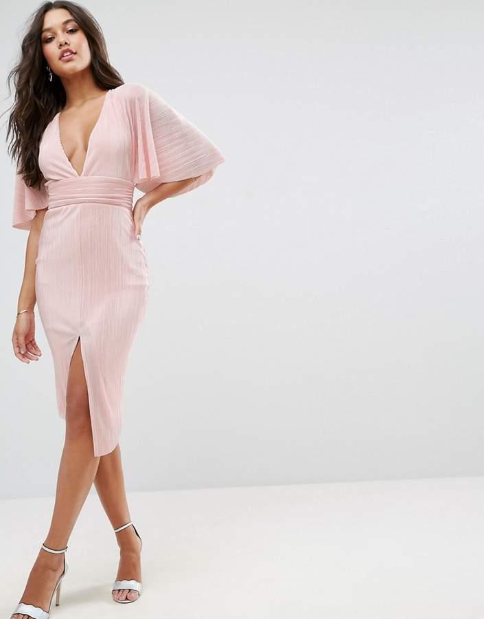 AsosASOS Plisse Kimono Midi Dress