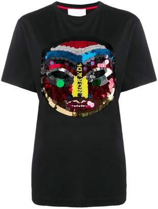 NO KA 'OI No Ka' Oi Tribal sequinned icon T-shirt
