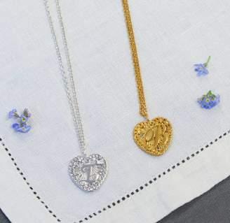 Coleman Amanda Initialed Love Heart Pendant