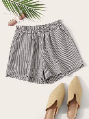 Shein Striped Elastic Waist Wide Leg Shorts