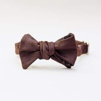 Blade + Blue Brown Suede Bow Tie