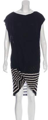 Jean Paul Gaultier Striped Sleeveless Mini Dress