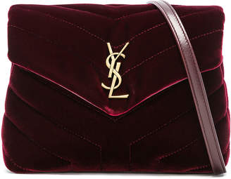 Saint Laurent Toy Velvet Monogramme Loulou Strap Bag