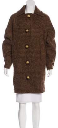 Michael Kors Wool-Blend Button-Up Coat