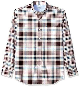 Izod Men's Newport Oxford Plaid Long Sleeve Shirt