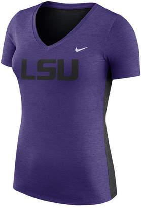Nike Women Lsu Tigers Dri-Fit Touch T-Shirt