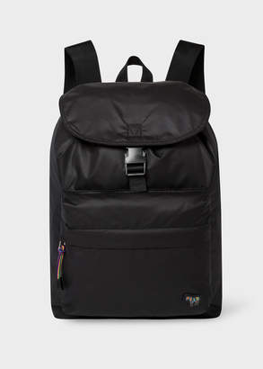 Paul Smith Men's Black 'Zebra' Logo Backpack