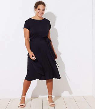 LOFT Plus Tie Waist Shirttail Dress