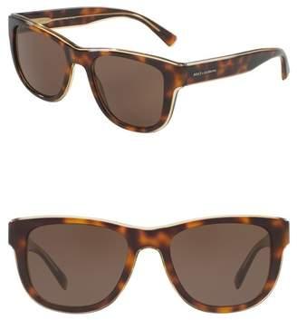 Dolce & Gabbana 54mm Square Sunglasses