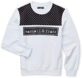 Manuell & Frank Boys 8-20) Perforated Yoke Logo Sweatshirt