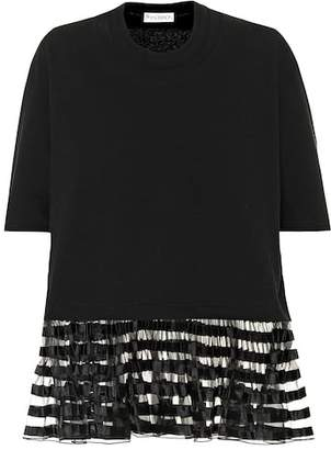 J.W.Anderson Organza trimmed cotton T-shirt