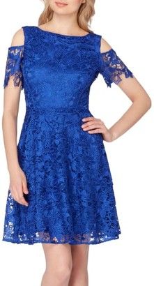 Women's Tahari Cold Shoulder Lace Dress $158 thestylecure.com