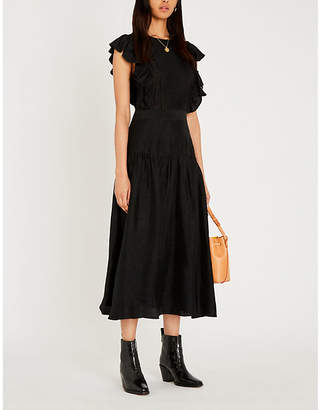 Sandro Fit-and-flare crepe dress
