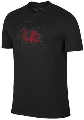 Champion Men South Carolina Gamecocks Black Out Dual Blend T-Shirt