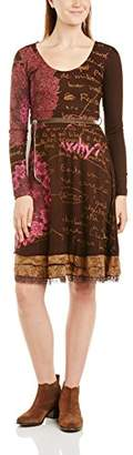 Desigual Women's Saray Long Sleeve Dress,(Manufacturer Size:Small)