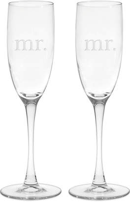 Culver Mr. & Mrs. Champagne Flutes, Set of 2