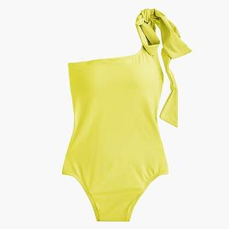 J.Crew Bow-tie one-shoulder one-piece swimsuit