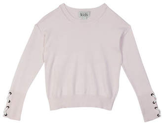 Autumn Cashmere Laced Cuff Cotton Top, Size 8-14